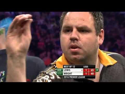 Premiere League darts week 10 Lewis vs Wright