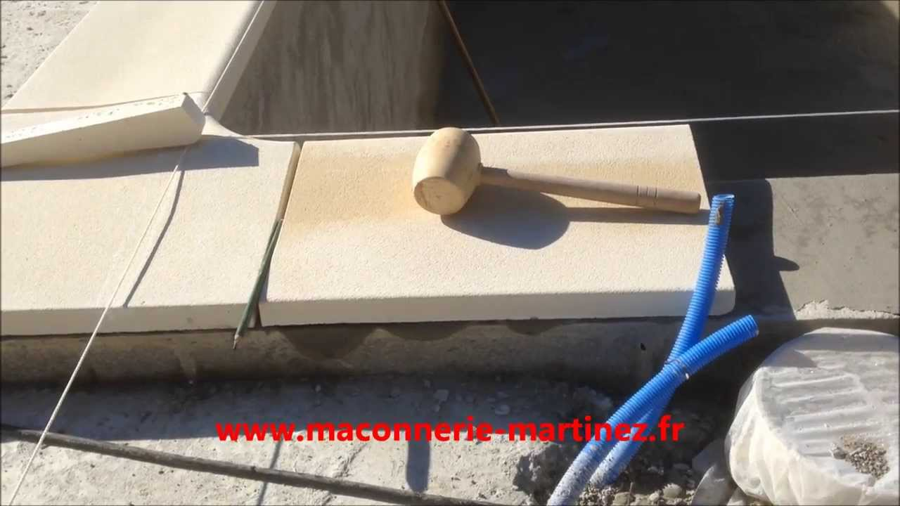Comment poser les margelles piscine ma onnerie martinez for Carrelage 50x50