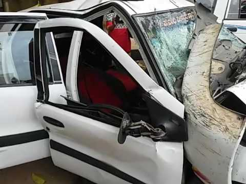 OLA cab  condition (after the severe accident)