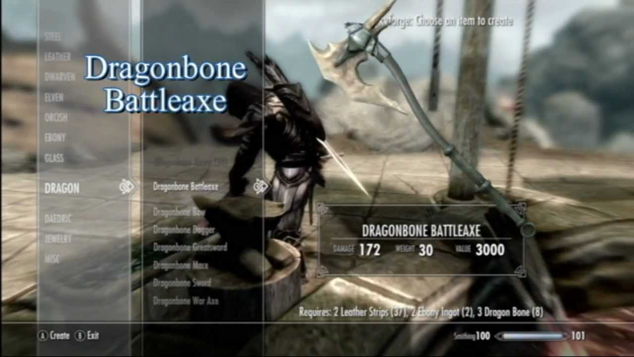dawnguard dlc dragonbone weapons youtube