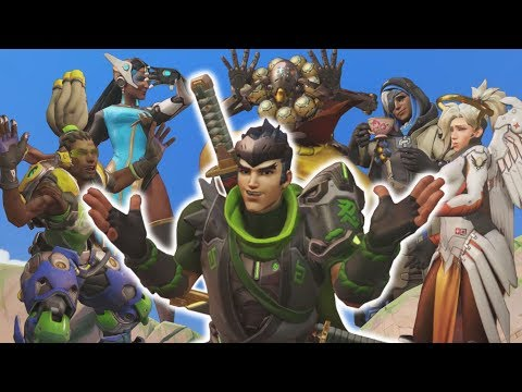 Overwatch - Genji's Quintuple Supports