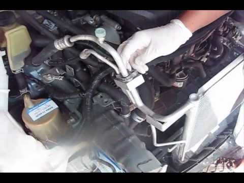 replace condenser   mazda  part youtube
