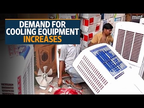 Demand for cooling equipment surges as heat soars in Delhi