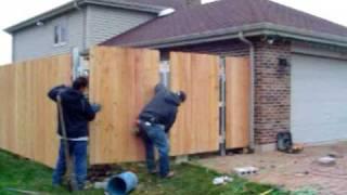 Home Improvements  New Wood Fence