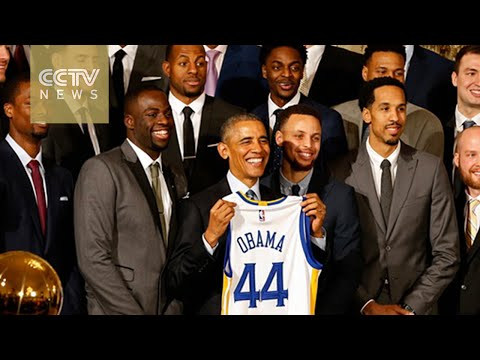 NBA champions attend reception at White House