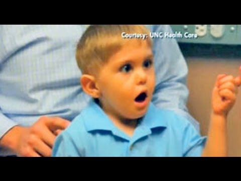 Miracle!! Deaf Boy Hears Father's Voice For The First Time!!! video