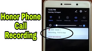 How To Record Call On Any Honor Smartphone 🔥||🔥Honor Smartphone Call Recording🔥