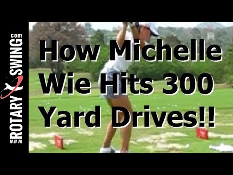 How Michelle Wie Hits 300 Yard Drives!! Golf Swing Analysis