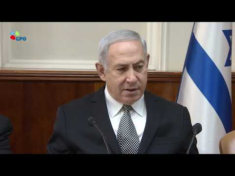 PM Netanyahu's Remarks at Weekly Cabinet Meeting - 4/2/2018