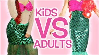 Kids VS Adults Halloween Costumes!