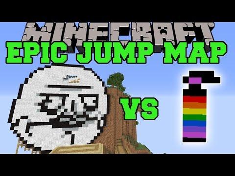 EPIC JUMP MAP ULTIMATE TROLLING VS GRENADES MOD - Minecraft Mods Vs Maps - (Black Holes, Rainbows!),