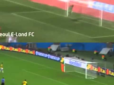 Striker Minkyu Joo scored an exact replica of James Rodriguez's volley at the 2014 World Cup!