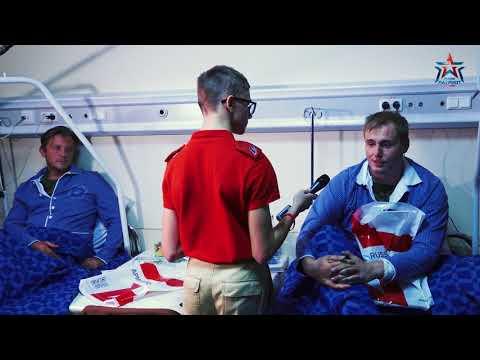 Юнкоры Юнармии посетили раненых в Сирии корреспондентов Звезда ТВ и НТВ.