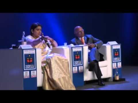 Smriti Irani & Rajiv Malhotra On Aryan Dravidian Theory