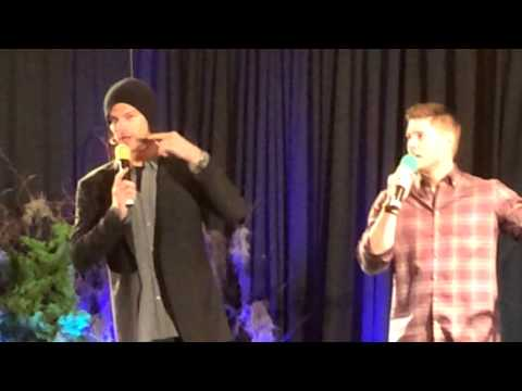 [NJCON '14] My mom asks Jared Padalecki about Saxx and how long his... average work day is