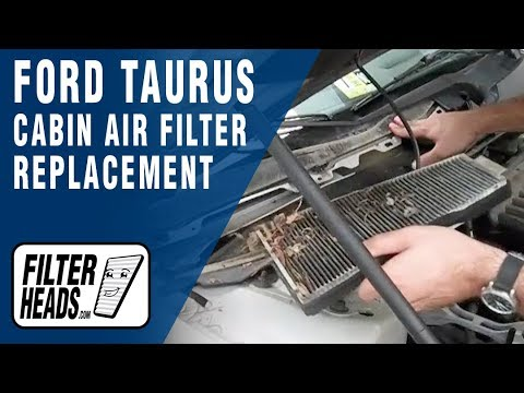 Cabin air filter replacement- Ford Taurus