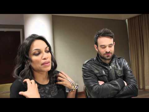 Daredevil's Rosario Dawson and Charlie Cox Talk about their Hit Show!