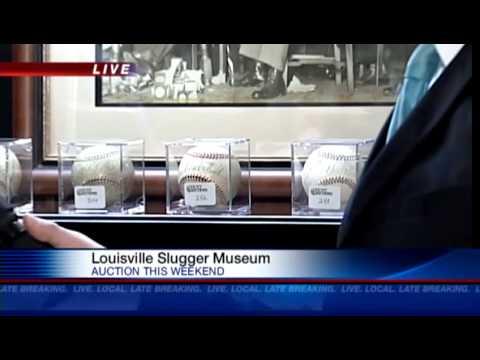 Baseball memorabilia auction at Slugger Museum