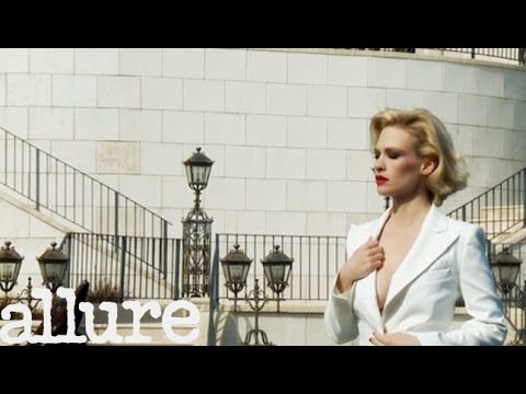 January Jones's Allure Cover Shoot