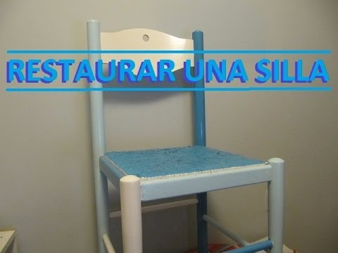 Como restaurar reparar una silla de madera lijar encolar y pintar f cil youtube - Pintar sillas de madera ...