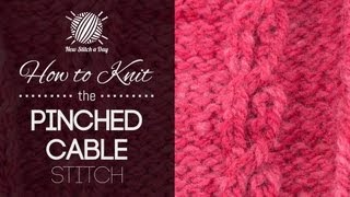 Crochet Stitches Youtube Channel : Cable Knitting Stitches {Knitting Stitchionary} - YouTube