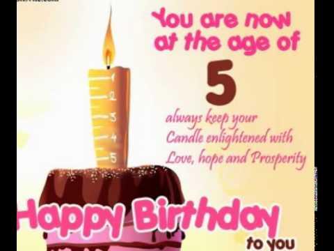 Happy 5th Birthday And 10th Birthday E Card Youtube Happy 5th Birthday Wishes To My