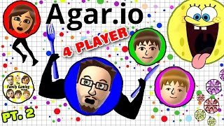 ETEN ELKAAR! AGAR.IO 4 Player FGTEEV Battle! Duddy vs Family (Multiplayer Gameplay)