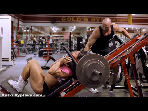 Kate Kyptova and Chris Zimmerman at Golds Gym