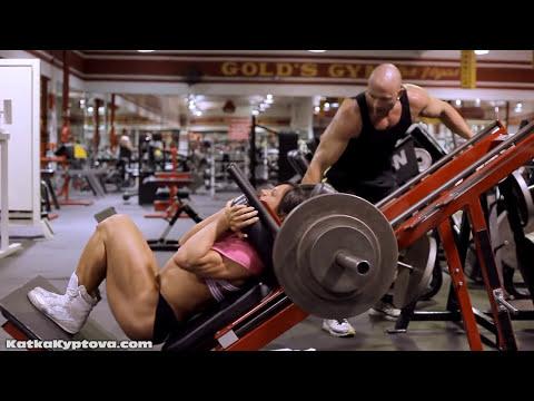 Kate Kyptova and Chris Zimmerman at Golds Gym