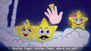 Star Finger Family Song For Kids | Nursery Rhymes & Songs for Children | Baby Hazel Rhymes