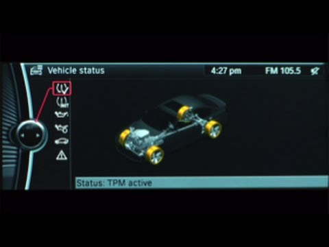 Bmw Tire Pressure Monitor Youtube