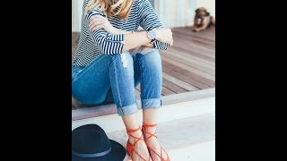 How to wear jeans with flat shoes