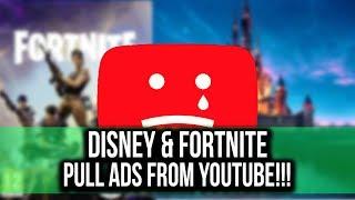 Disney & Fortnite both pull ads on YouTube #YouTubeWakeUp
