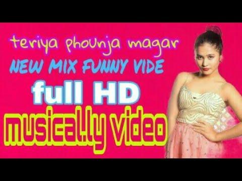 teriya phounja magar Mix Hindi Nepali English funny dance song 2018