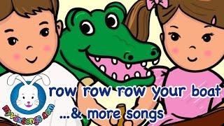 Row Row Row Your Boat with lyrics & more Nursery Rhymes