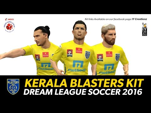 Kerala blasters Kit Link and logo for Dream League Soccer 2016 game