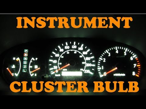 Toyota Instrument Cluster Light Change