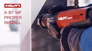 Hilti Threaded Stud X-BT proper installation