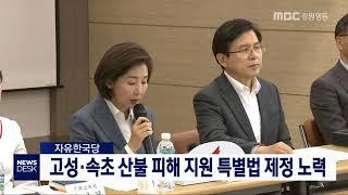 자유한국당 황교안 대표 고성 산불피해지역 방문