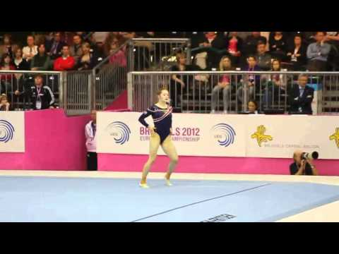 Jennifer PINCHES GBR, Floor, Team Final, European Gymnastics Championships 2012