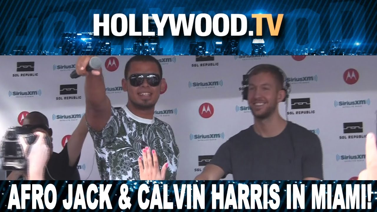 afrojack and calvin harris spinning in miami hollywood