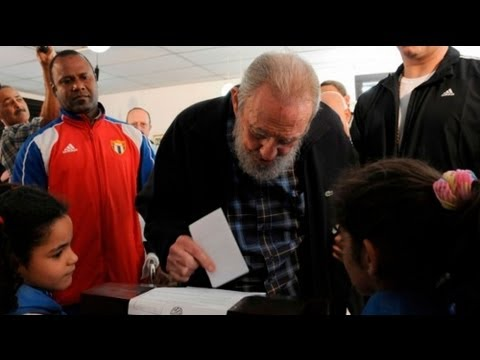 Cuba election: Castro makes rare appearance