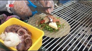 Bánh tráng nướng phô mai tôm thịt, xíu mại, bạch tuộc