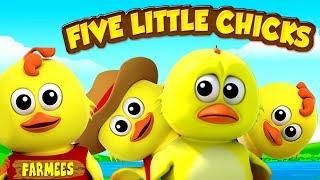 пять маленьких птенцов   песня для детей   детские рифмы   Five Little Chicks   Rhymes For Toddlers