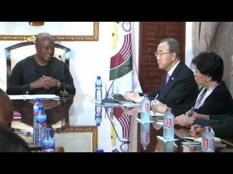 UN Secretary General Calls on President Mahama