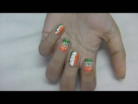 68th Indian Independence Day Nail Art | No tools needed