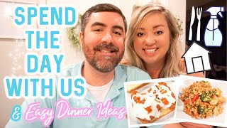 DAY IN THE LIFE | EASY DINNER RECIPES | COOK AND CLEAN WITH ME | JESSICA O'DONOHUE