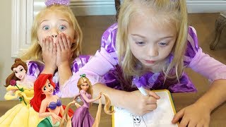 Ultimate 3 marker Disney Princess Challenge!!!