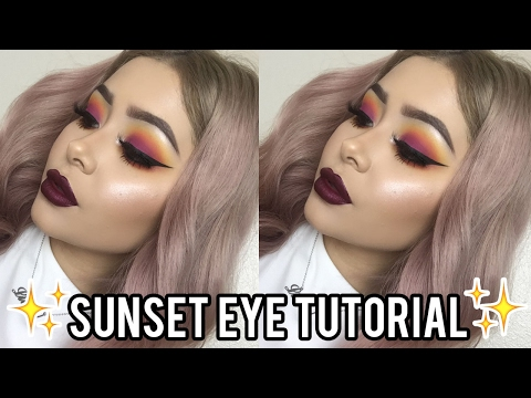 Sunset Eyeshadow Makeup Tutorial | Daisy Marquez - YouTube