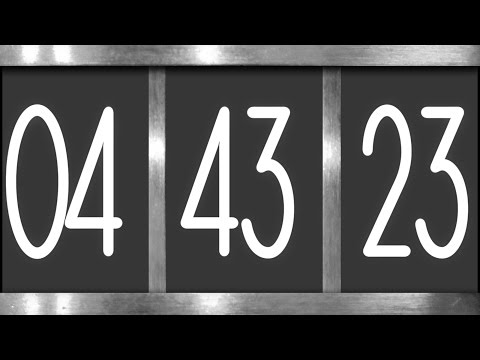 Digital Countdown Motion Graphics Animation